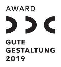 Award German Design Council - Gute Gestaltung 2019