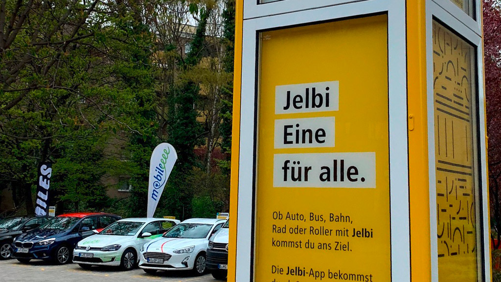 Carsharing-Fahrzeuge Jelbi-Station